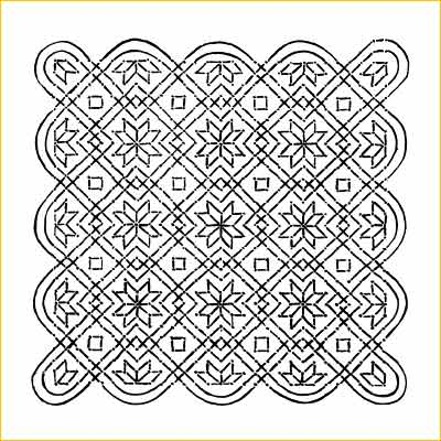 Pongal Kolam Patterns